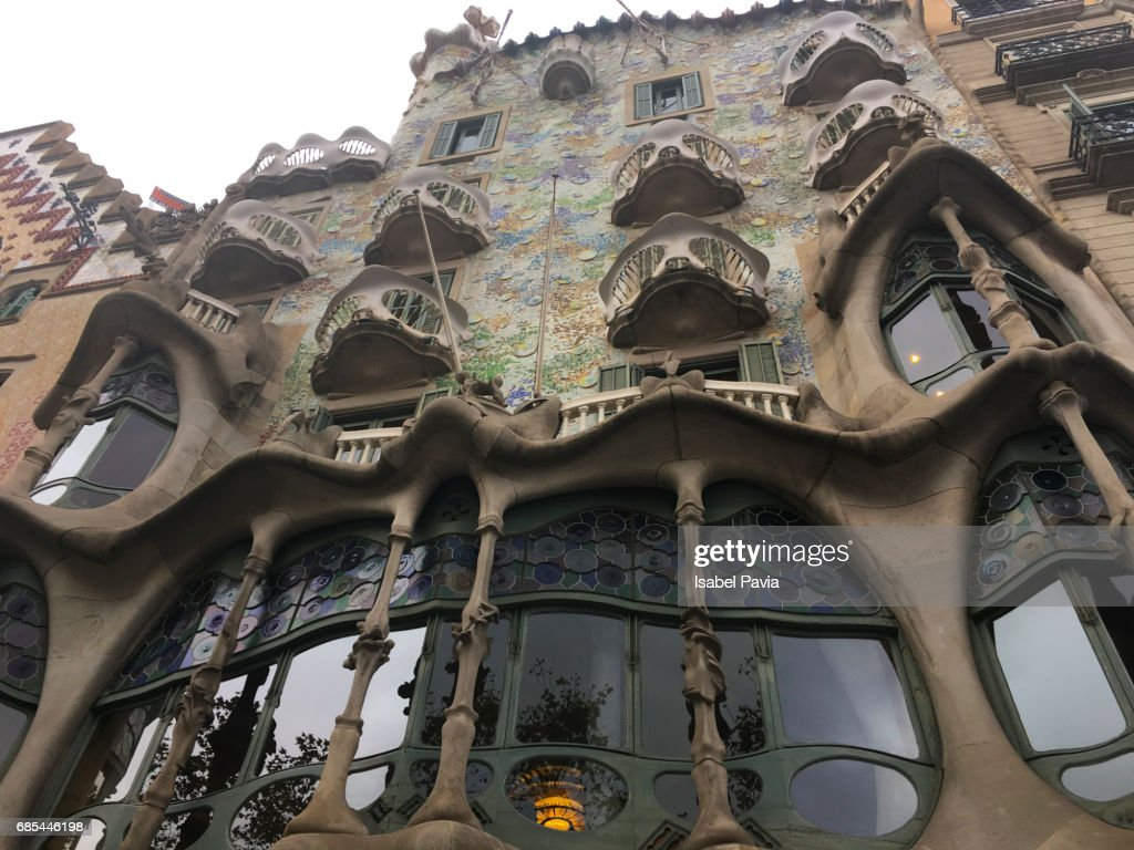 gaudi architecture casa batllo barcelona catalunya spain europe