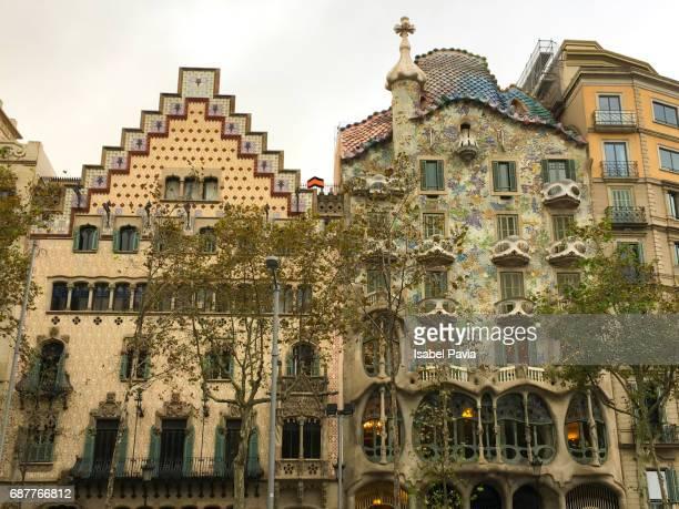 Gaudi architecture, Casa Batllo, Barcelona, Catalunya (Catalonia), Spain, Europe