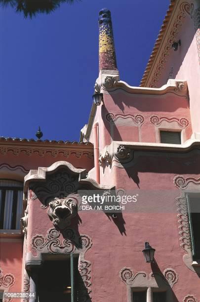 Gaudi House Museum Guell Park design by Antoni Gaudi Barcelona Catalonia Spain 20th century