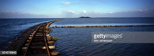 Gauge railway runs from Hallig Langeness to Oland and then continues to the mainland, in Germany. Hallig Langeness is part of low-lying land that...
