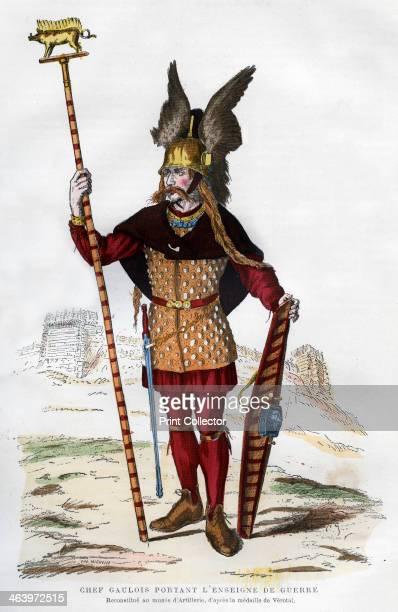 Gaul chief in battle dress carrying a standard 18821884 A print from La France et les Français à Travers les Siècles Volume I F Roy editor...