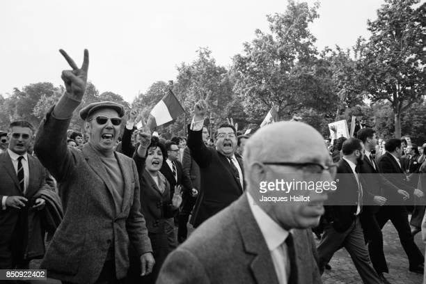 Gaullist Demonstration at the Arc de Triomphe in Paris