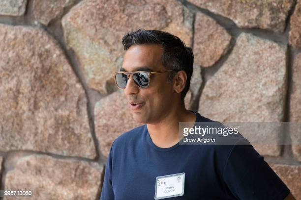 Gaurav Kapadia former comanaging partner at Soroban Capital Partners arrives at the Sun Valley Resort for the annual Allen Company Sun Valley...