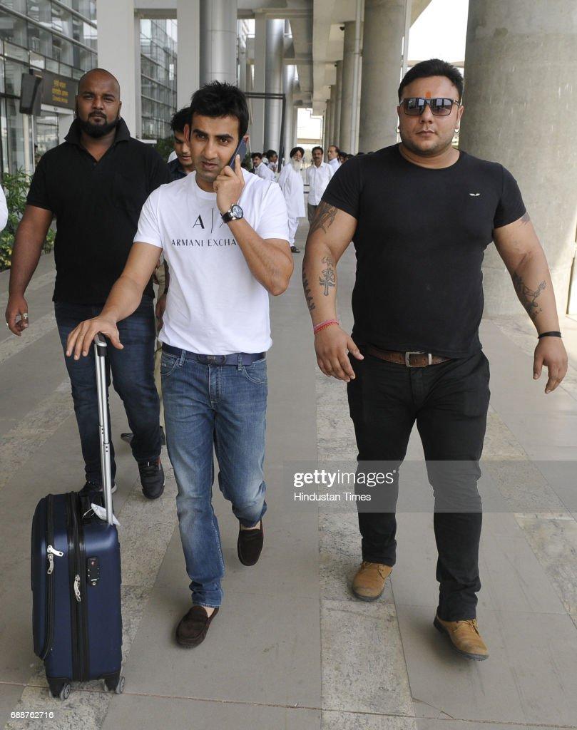 Gautam Gambhir Cricketer arrived at Chandigarh airport on May 26 2017 in Chandigarh India