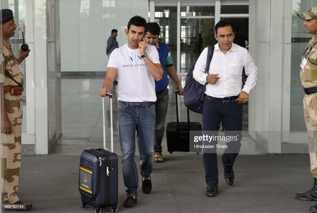 Gautam Gambhir Cricketer arrived at Chandigarh airport on May 26 2017 in Chandigarh India