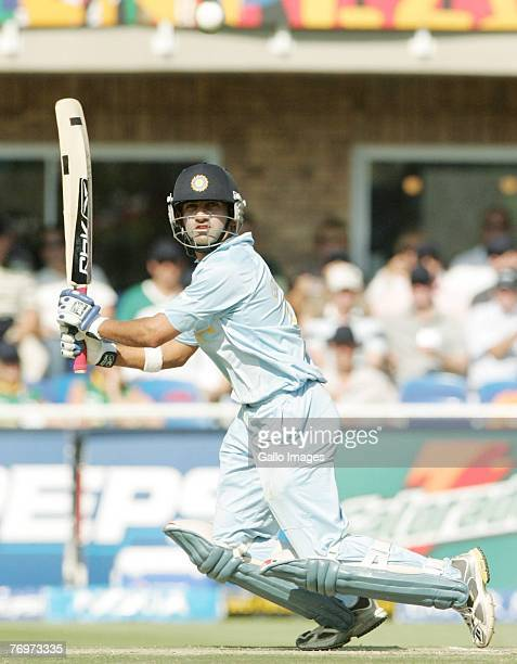 Gautam Gambhir striving for his 50 runs during to the final match of the ICC Twenty20 World Cup between Pakistan and India held at the Wanderers...