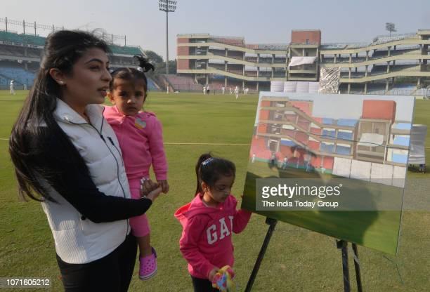 Gautam Gambhirs wife Natasha Jain at Ranji Trophy Group League in New Delhi