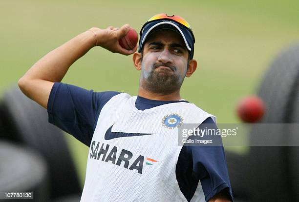 Gautam Gamhir practices during the India training session at Sahara Stadium Kingsmead on December 25 2010 in Durban South Africa