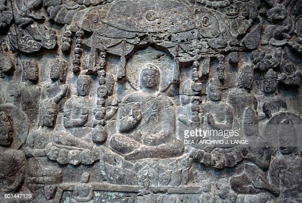 Gautama Buddha basrelief from Bharhut Indian civilisation Shunga dynasty early 2nd century bC Washington Smithsonian Institution Freer And Sackler...