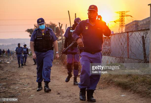 Gauteng Commissioner General Elias Mawele and MEC for Community Safety Ms Faith Mazibuko lead COVID-19 lockdown joint operations on May 23, 2020 in...