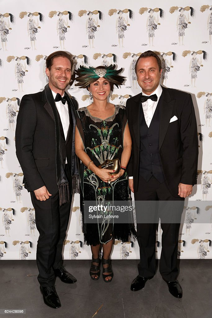 Gauthier Destenay, Florence Reckinger-Taddeï and Luxembourg Prime Minister Xavier Bettel arrive at the 20th Luxembourg Red Cross Ball Gala on November 19, 2016 in Luxembourg, Luxembourg.