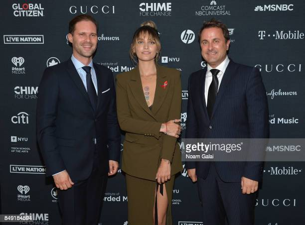 Gauthier Destenay Paris Jackson and Prime Minister of Luxembourg Xavier Bettel attend Global Citizen Live at NYU Skirball Center on September 18 2017...