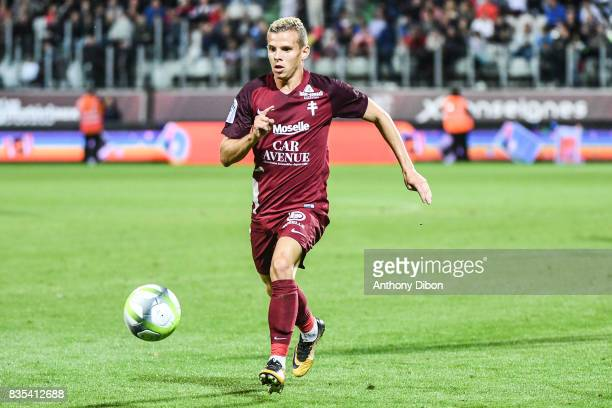 Gauthier Hein of Metz during the Ligue 1 match between FC Metz and AS Monaco on August 18 2017 in Metz