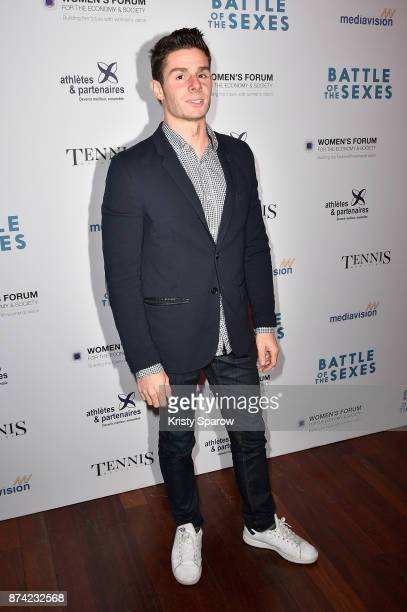 Gauthier Klauss attends the 'The Battle Of The Sexes' Paris Premiere at Publicis Champs Elysees on November 14 2017 in Paris France