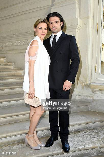 Gautier Capucon and his wife Delphine Capucon attend the Valentino Menswear Spring/Summer 2017 show as part of Paris Fashion Week on June 22 2016 in...