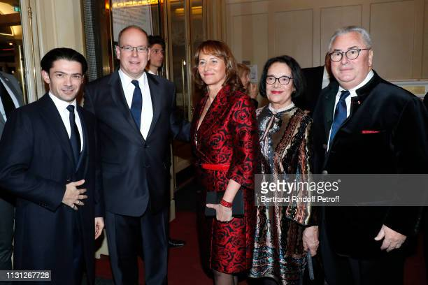 Gautier Capucon Prince Albert II De Monaco Segolene Royal Owners of the Salle Gaveau JeanMarie Fournier and his wife Chantal Fournier attend the...