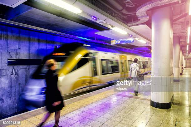 Gautrain with people moving