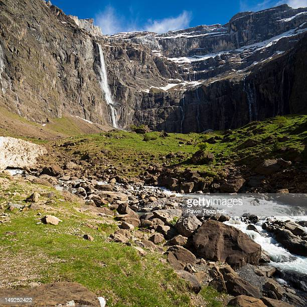 Gavarnie falls, the longest waterfall in Europe