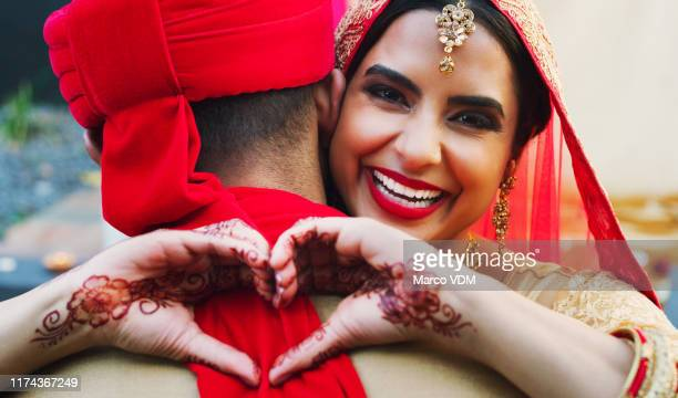 i gave him my heart for keeps - indian wedding stock pictures, royalty-free photos & images