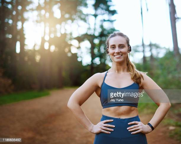 i gave up being lazy for a healthier lifestyle - hand on hip stock pictures, royalty-free photos & images
