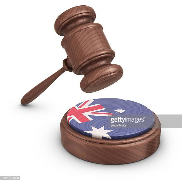gavel and australian flag