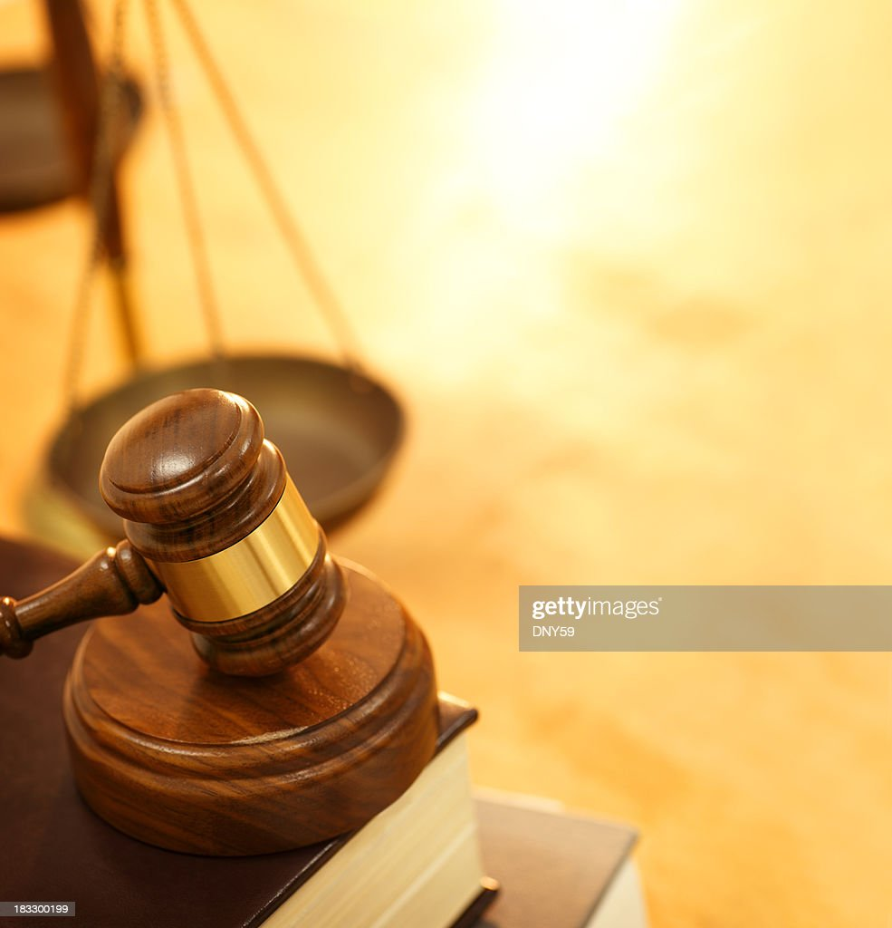 Gavel and Law Books : Stock Photo