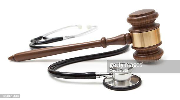 gavel and stethoscope - gavel stock pictures, royalty-free photos & images