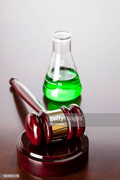 gavel & beaker - fda stock photos and pictures
