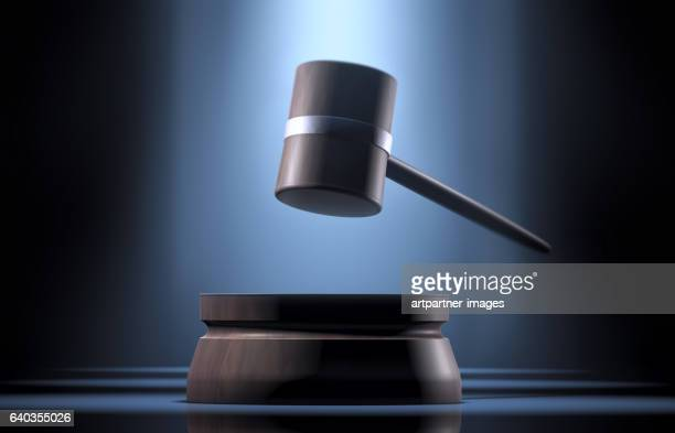 gavel in a spotlight - auction stock pictures, royalty-free photos & images