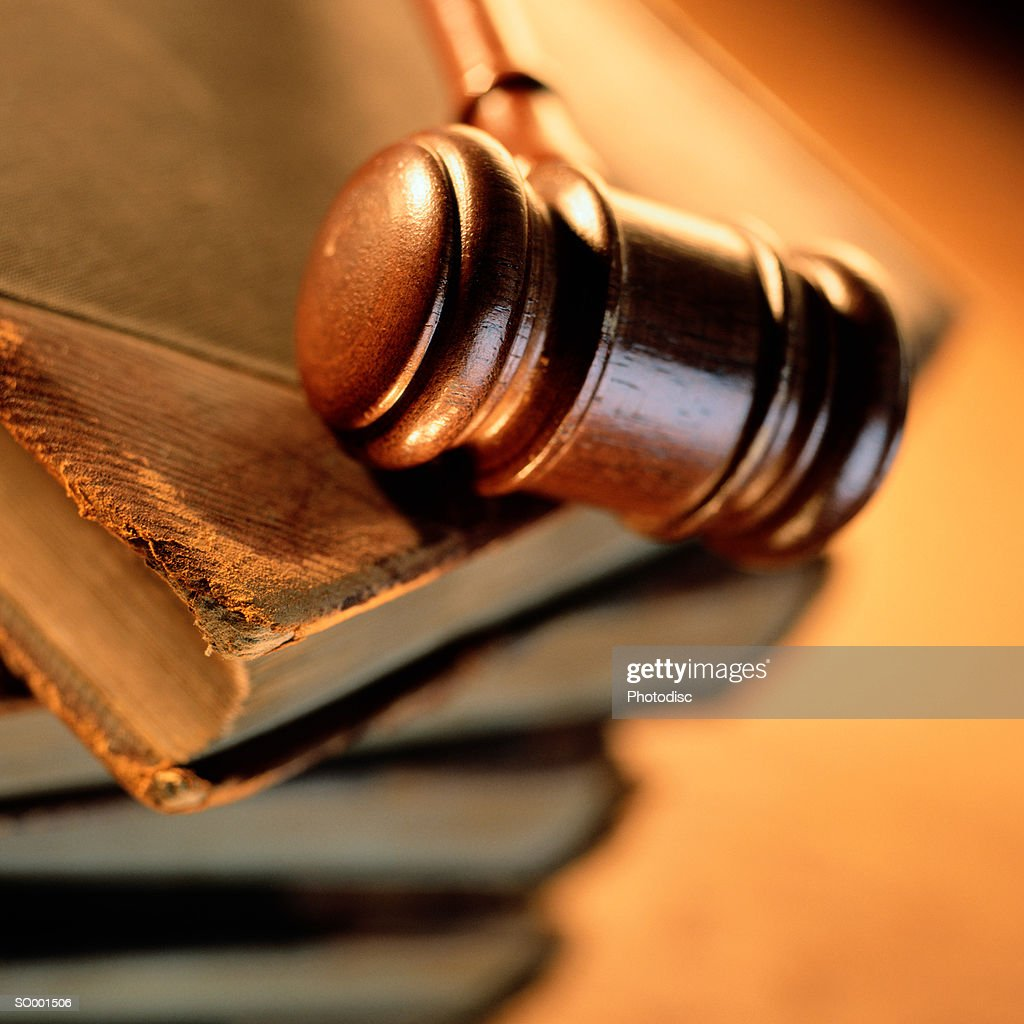 Gavel on a Stack of Books : Stock Photo