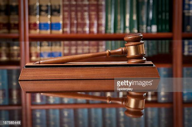 Gavel On Conference Table