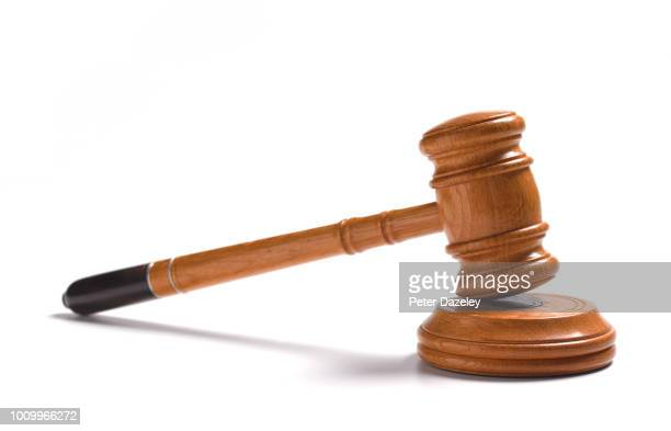 gavel on white background - legal system stock pictures, royalty-free photos & images