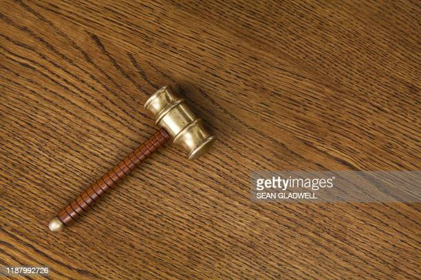 gavel on wood - bid stock pictures, royalty-free photos & images