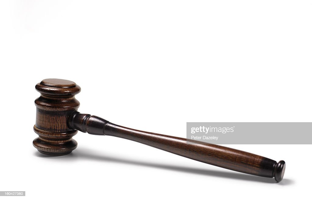 Gavel with copy space : Stock Photo