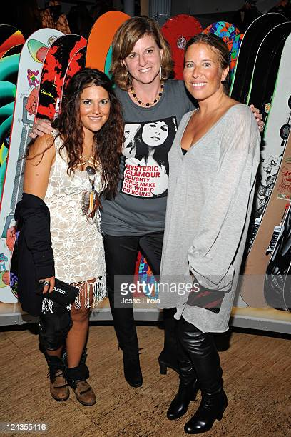 Gavi Viteri Donna Carpender and AnneMarie Dacyshyn attend Burton Snowboards Fashion's Night Out celebration on September 8 2011 in New York City