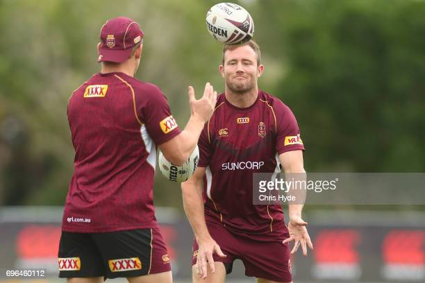 Gavin Cooper during a Queensland Maroons State of Origin training session at Intercontinental Sanctuary Cove Resort on June 16 2017 in Brisbane...