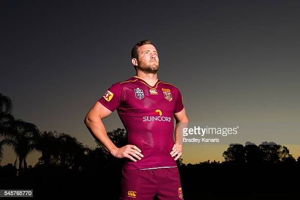 Gavin Cooper poses for a photo during a Queensland Maroons State of Origin portrait session on July 10 2016 in Gold Coast Australia