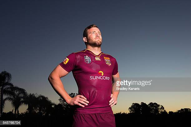 Gavin Cooper poses for a photo during a Queensland Maroons State of Origin portrait session on July 10 2016 at the Gold Coast Australia