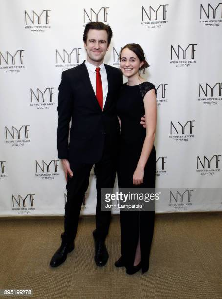 Gavin Creel and Madeline Smith attend the 2017 National Yiddish Theatre Folksbiene 'Broadway A Jewish American Legacy' honoring Jerry Zaks at Museum...