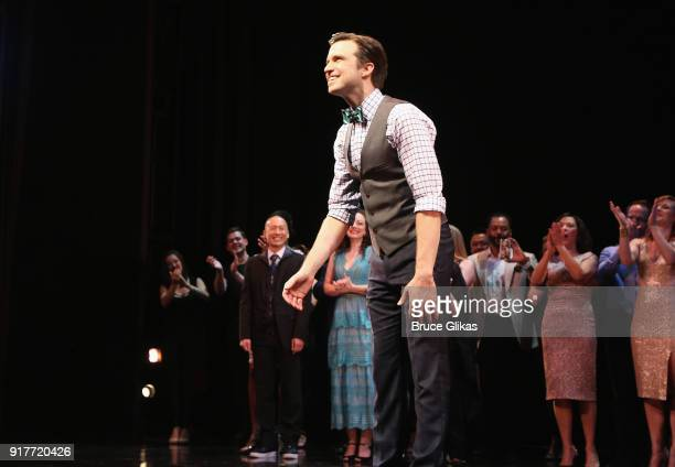 Gavin Creel takes the curtain call at the 'Thoroughly Modern Millie' 15th Anniversary Reunion Concert at The Minskoff Theater on February 12 2018 in...