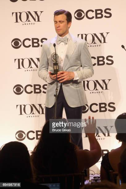 """Gavin Creel, winner of the award for Best Featured Actor in a Musical for """"Hello Dolly!,"""" in the press room during the 71st Annual Tony Awards at 3..."""