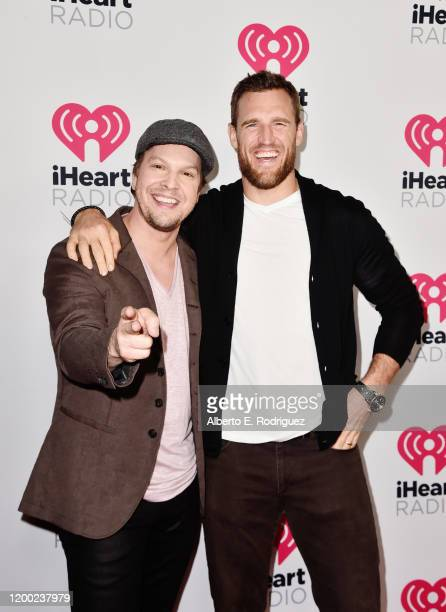 Gavin DeGraw and Brooks Laich attend the 2020 iHeartRadio Podcast Awards at the iHeartRadio Theater on January 17 2020 in Burbank California