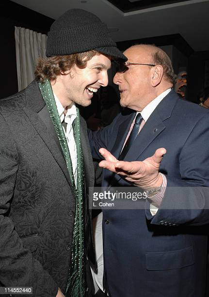 Gavin DeGraw and Clive Davis during Songs of Hope IV at Esquire House 360° Inside at Esquire House 360° in Beverly Hills California United States