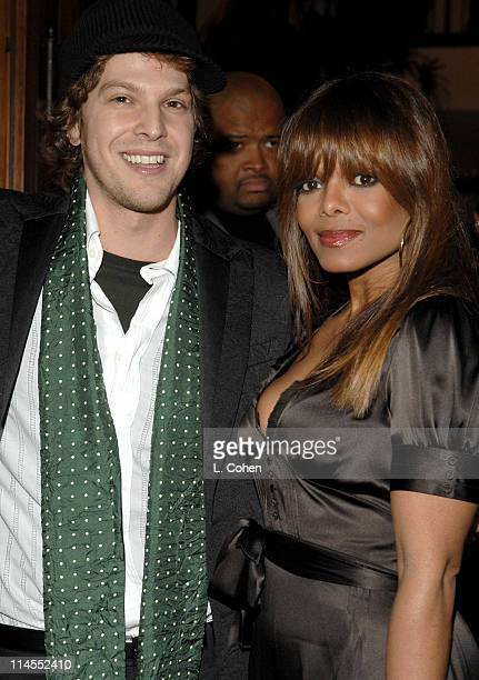 Gavin DeGraw and Janet Jackson during Songs of Hope IV at Esquire House 360° Inside at Esquire House 360° in Beverly Hills California United States