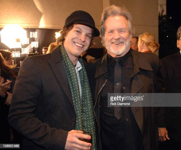 Gavin DeGraw and Kris Kristofferson during 54th Annual BMI Country Awards Arrivals at BMI Offices in Nashville Tennessee United States