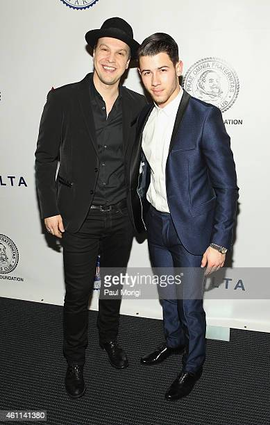 Gavin DeGraw and Nick Jonas attend The Lincoln Awards A Concert For Veterans The Military Family presented by The Friars Foundation at John F Kennedy...