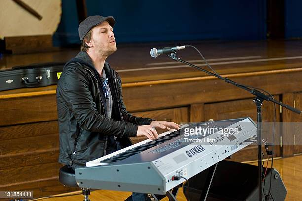 Gavin Degraw attends the GRAMMY Foundation Labels for Education Star-Powered Music Day at St. Edmund's Parish School on April 5, 2011 in Oak Park,...