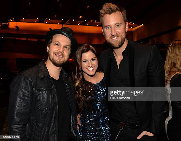 Gavin Degraw Cassadee Pope and Charles Kelley of Lady Antebellum attend CMT Artists Of The Year 2013 at Music City Center on December 3 2013 in...