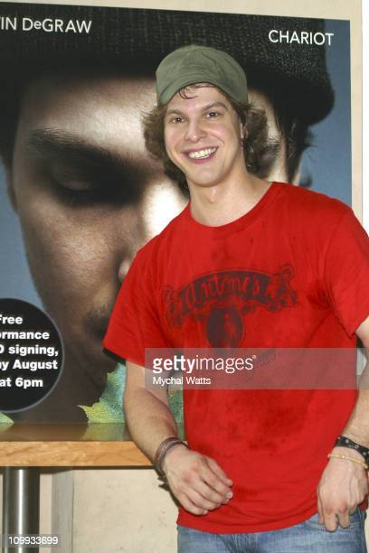 Gavin DeGraw during Gavin DeGraw Performs and Signs Copies of his New CD Chariot at Virgin Mega Store Union Square in New York City New York United...