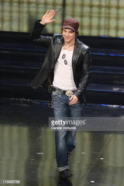 Gavin DeGraw during Gavin DeGraw performs at The 56th San Remo Song Festival at San Remo in San Remo Italy